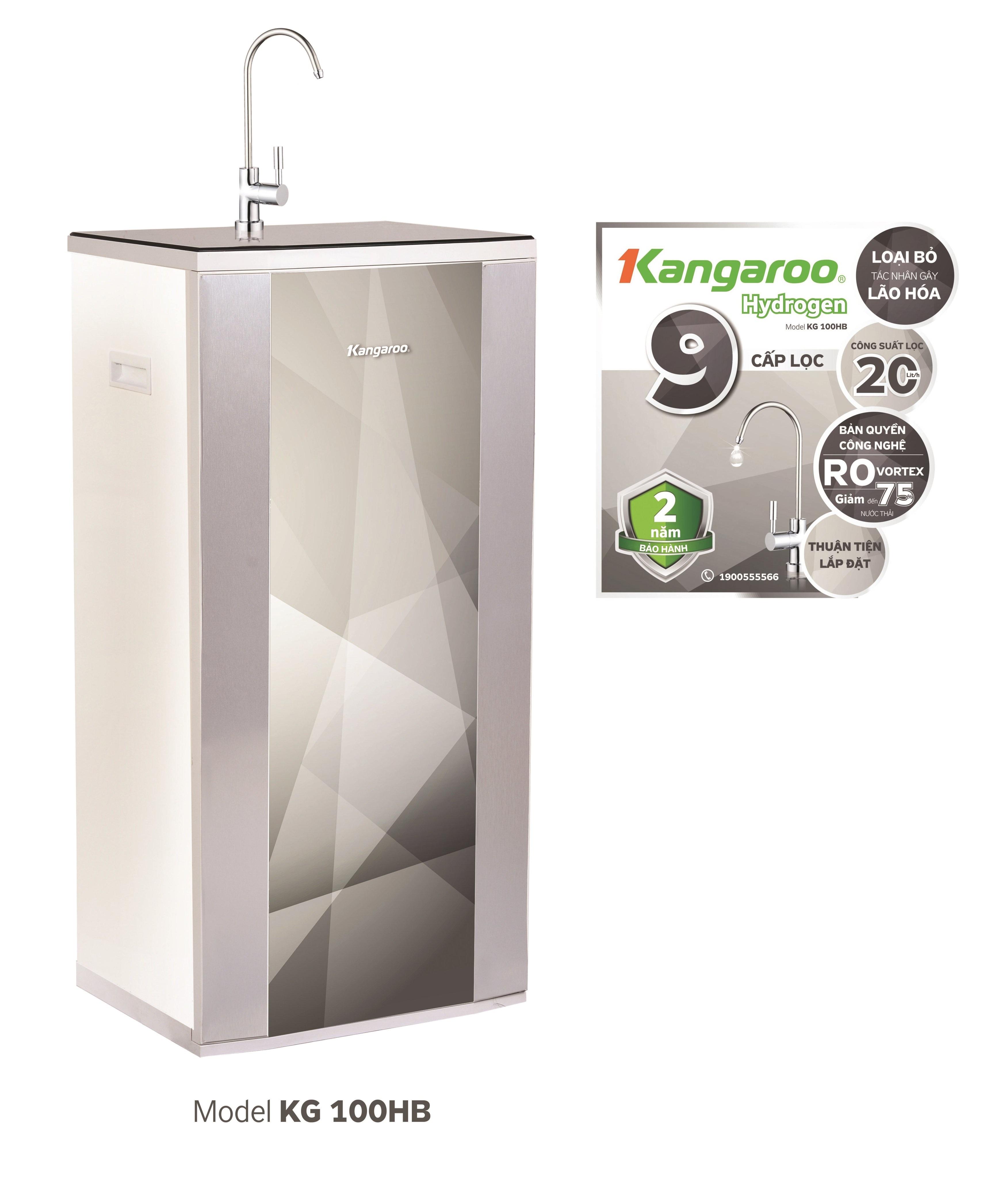 Máy lọc nước Kangaroo Hydrogen 9 lõi KG100HB vỏ tủ VTU